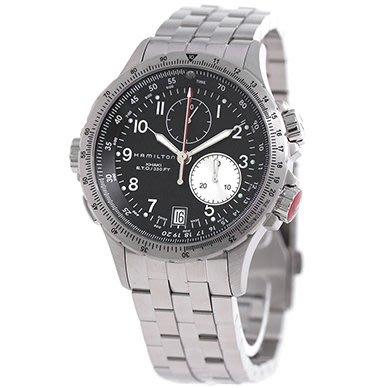 HAMILTON H77612133 漢米爾頓 手錶 42mm Khaki ETO 卡其航空系列 鋼錶帶 男錶女錶