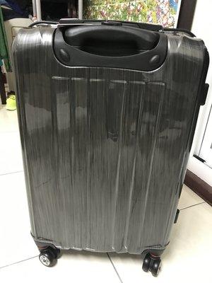America Tiger黑色髮絲紋行李箱(24吋)