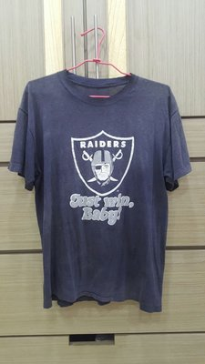 70年代 Champion NFL球隊T恤OAKLAND RAIDERS 奧克蘭突擊者隊Made in U.S.A