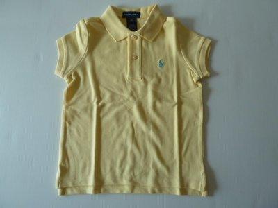購於美國,全新Ralph Lauren女童黃色短袖 POLO 衫, 美國女童尺寸6X, 已拆標但未下過水,介意者請勿購買