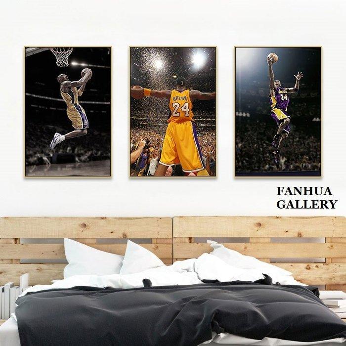 C - R - A - Z - Y - T - O - W - N NBA籃球明星經典傳奇人物KobeBryant黑曼巴紀念品裝飾畫柯比布萊恩掛畫湖人隊珍藏畫