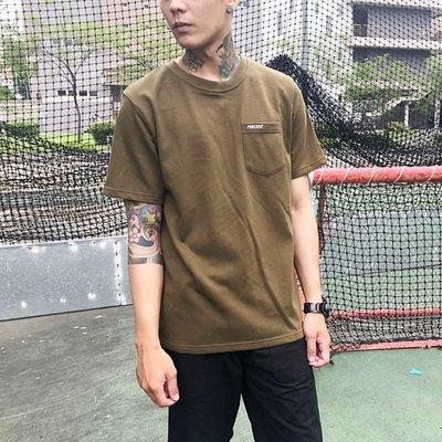 藤原本鋪 PERCENT% PC電繡口袋短T 綠色