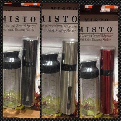 Costco 好市多 MISTO 噴霧罐&沙拉調理罐 紅色 黑色 銀色(2件組) 限時特價:499元 數量有限 售完為止
