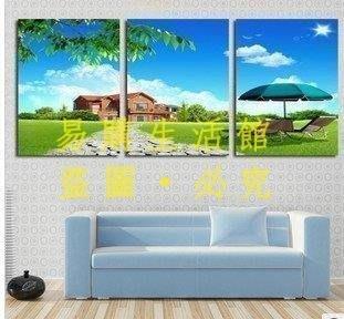 [王哥廠家直销]客廳裝飾畫 時尚無框畫 現代風景畫 快樂生活 壁畫掛畫三聯畫LeGou_1724_1724