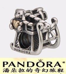 潘朵拉聖誕款{{潘朵拉的奇幻旅程}}PANDORA 14K Gold Santa`s Sleigh-聖誕雪橇791207