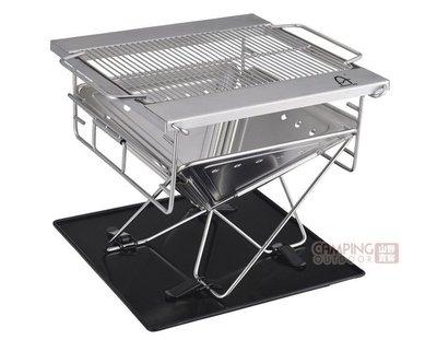 【山野賣客】野樂 Camping Ace 18-8不銹鋼中號焚火台 ARC-237 烤肉架 烤肉爐 炭烤爐 BBQ 營火