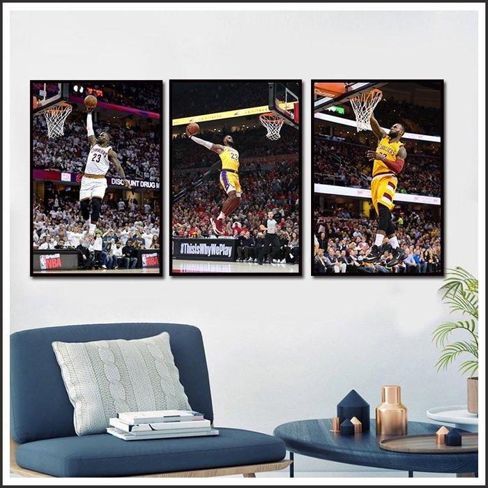 日本製畫布海報 NBA LBJ 湖人 騎士 詹姆士 LeBron James 掛畫 裝飾畫 @Movie PoP #