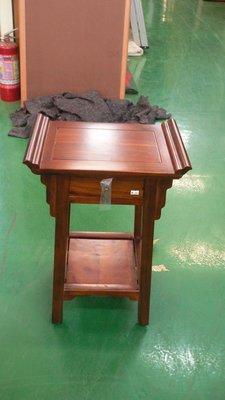 實木家具賣場 宏品二手傢俱 A025*時全新低玄關花架*柚木仿古電話架 原木藝品展示架 庫存家具拍賣電視櫃 餐桌椅
