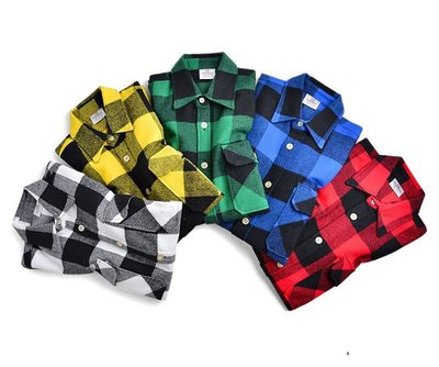 ☆LimeLight☆ Rothco Flannel 超重磅法蘭絨襯衫 格紋 橘/紅/黑/藍/黃 S M L XL