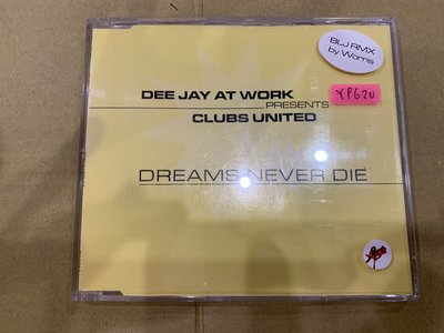 *還有唱片行*DEE JAY AT WORK / DREAMS NEVER DIE 二手 Y9620 (49起拍)