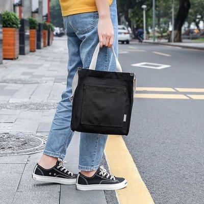 手提包 帆布側背包-休閒純色簡約方型女包包7色73xb10[獨家進口][米蘭精品]