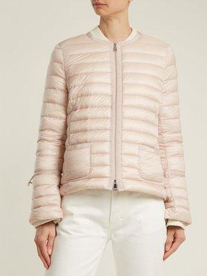 全新 MONCLER Almandin quilted down jacket 淺粉色1號現貨