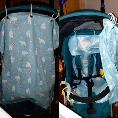 《自家製作》裁布車縫打釘一手包辦B車嬰兒車 遮光布 遮太陽 睡眠