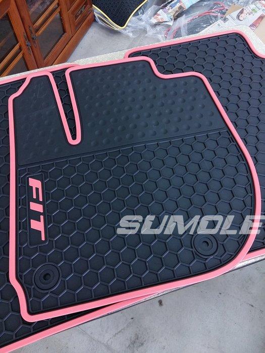 *狗狗的雜貨店*本田 Honda FIT3 FIT 3 專用全車腳踏墊 立體 防水 耐磨 橡膠腳墊 地墊 防水墊 V