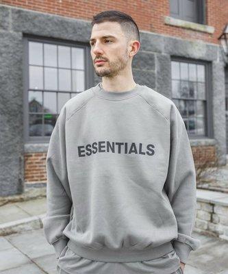 Essentials Cement 水泥灰色logo crewneck 大學T 衛衣 長袖 Fear of God fog