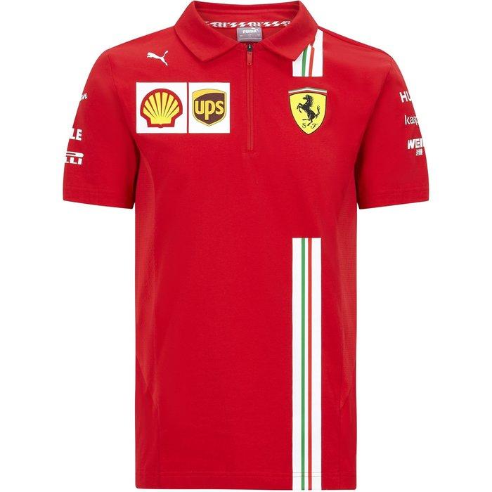 Scuderia Ferrari F1 Men's 2020車隊Polo衫