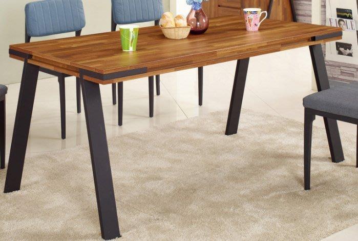 【DH】商品貨號N955-1商品名稱《奇諾》5尺柚木積層餐桌/餐椅/另計。工業風時尚優質。新品特價