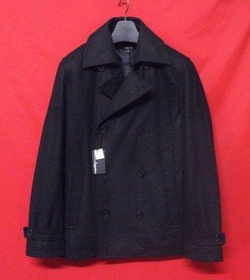 【出貨快速】日本名牌SUGGESTION 頂級雙排扣紳士鋪綿窄版混羊毛短大衣