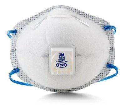 附發票(東北五金) 3M 8576 氣閥 酸性氣體 P95 活性碳 口罩 工業 (單個)