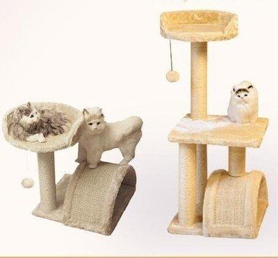 YEAHSHOP 劍麻貓爬架小型貓咪實木貓窩貓樹Y185