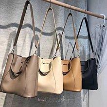 EmmaShop艾購物-正韓國空運皮革3WAY水桶包/肩背包/手提包/休閒風格/大容量托特包/子母包