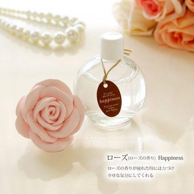 *阿布捲捲鄉村雜貨*日本 浪漫粉嫩立體玫瑰擴香石 玫瑰精油 室內 芳香 消臭-日本製