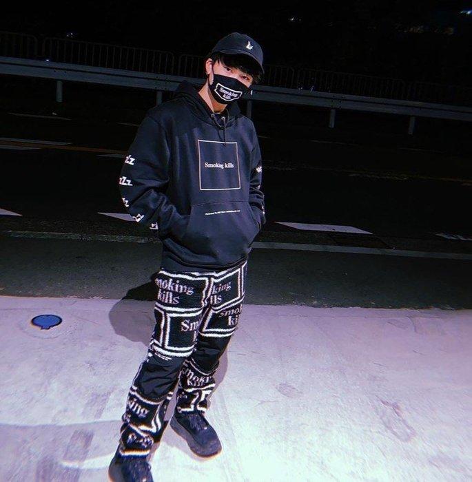 Giantmall FR2 SMOKING KILLS BOA PANTS 長褲 毛褲 休閒長褲 美式潮流街頭嘻哈