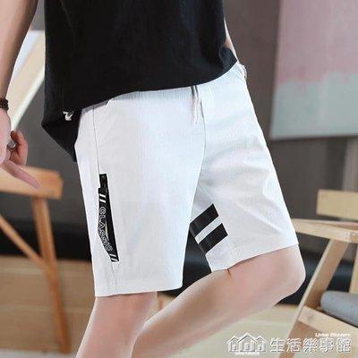 男士短褲夏天休閒沙灘褲中褲夏季5分五分褲子男生潮流馬褲衩7七分