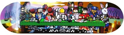 〔Bigforty〕MAVEN - 最後的晚餐 8.0 金箔背景版本 滑板 板身/整組