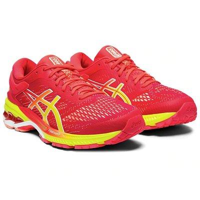ASICS 19FW 高階 支撐 女慢跑鞋 KAYANO 26 SHINE系列 B楦 1012A609-700 贈腿套