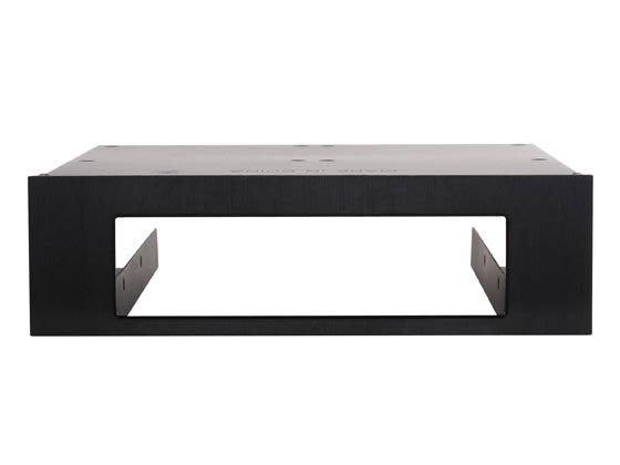 光華CUMA散熱精品*銀欣 FP55 鋁質面板 硬碟轉接架 3.5吋x1 + 2.5吋x2 轉5.25吋/黑色~現貨