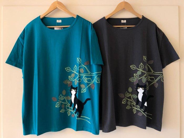 日本卡拉貓~喵之秋純棉上衣 大尺碼