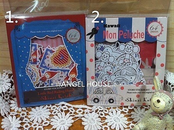 。☆ANGEL HOUSE☆。日本進口**Shinzi Katoh 加藤真治**好朋友/小紅帽包裝貼紙836