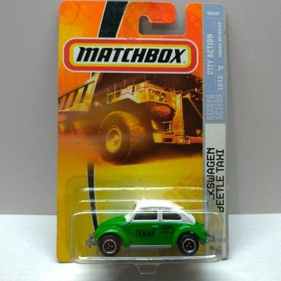 Matchbox 火柴盒 VOLKSWAGEN BEETLE TAXI 福斯 金龜車 計程車 (tomica多美 風火輪