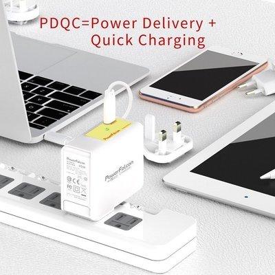 泳 快速發貨 BSMI認證PowerFalcon 45W PD各國通用充電器 (歐美英澳) PD3.0充電技術 筆電 手