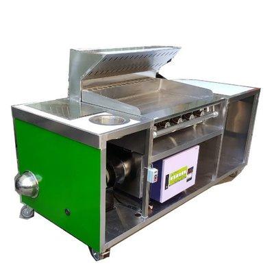 【華昌餐飲料理設備】┅全新白鐵不銹鋼早餐吧台加靜電抽風組吧檯/煎台+抽風煙罩+靜電機+馬達組