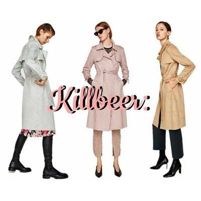 KillBeer:飄丿的都市名媛之 歐美復古經典英倫名媛翻領綁帶麂皮絨長版風衣長大衣zara topshop