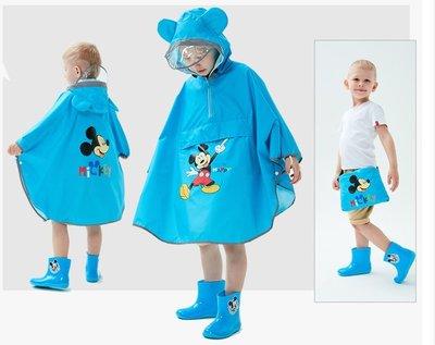 •*~ 辣媽咪衣飾小舖 ~*•❤童裝系列❤A970136兒童寶寶男女童學生卡通圖案防滑雨靴--斗蓬式米奇