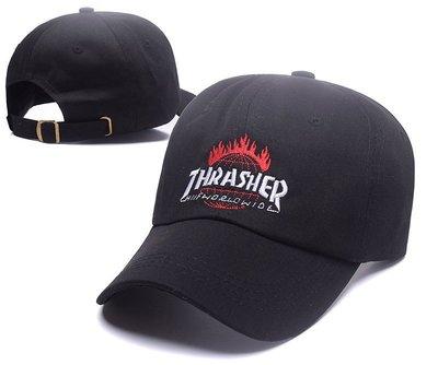 FIND 韓國品牌棒球帽 男女情侶 時尚街頭潮流 THRASHER字母刺繡 帽子 太陽帽 鴨舌帽 棒球帽