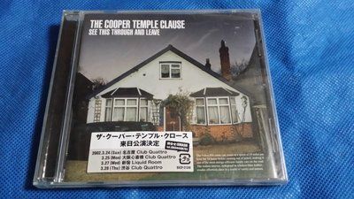 R西洋團(全新未拆CD)THE COOPER TEMPLE CLAUSE~SEE THIS THROUGH 日版~