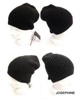 喬瑟芬【PAOLO PECORA 】特價$4000~深藍/鐵灰/黑 100%WOOL 羊毛 針織帽(共3色)