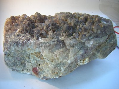【采鑫坊】水晶簇原礦石塊~紅水晶簇《直購品》抗幅射~1120g