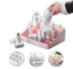 繽紛色彩 化妝品 收納架 展示架 收納盒 口紅 唇蜜 指甲油 乳液 粉撲 卸妝乳 排列整齊 清晰明瞭