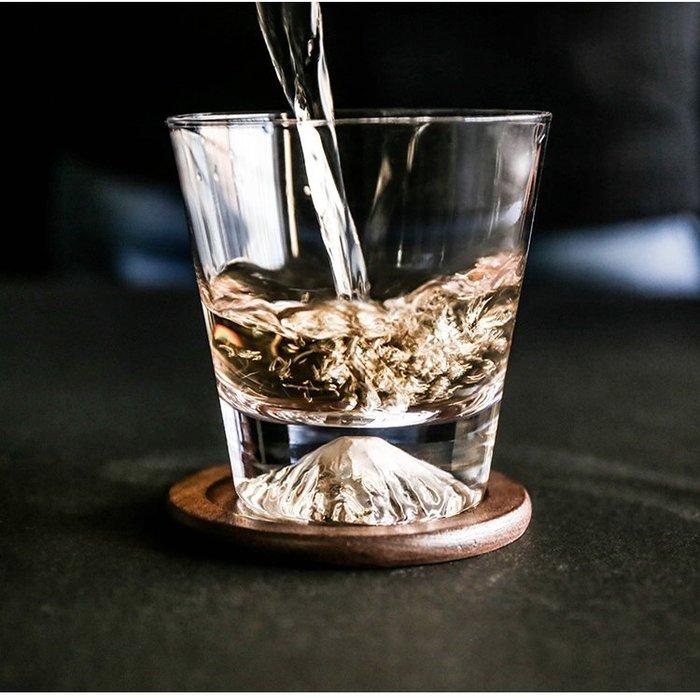 MAJ.POINT-無鉛耐熱玻璃水杯 富士山 咖啡 威士忌酒果汁杯 水果花茶 現代 代購 復古隨手水杯文青 道具 IG