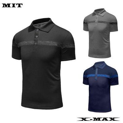 特價299~排汗王~X-MAX~MIT-X1950男款配色運動短袖POLO衫~百搭~配色