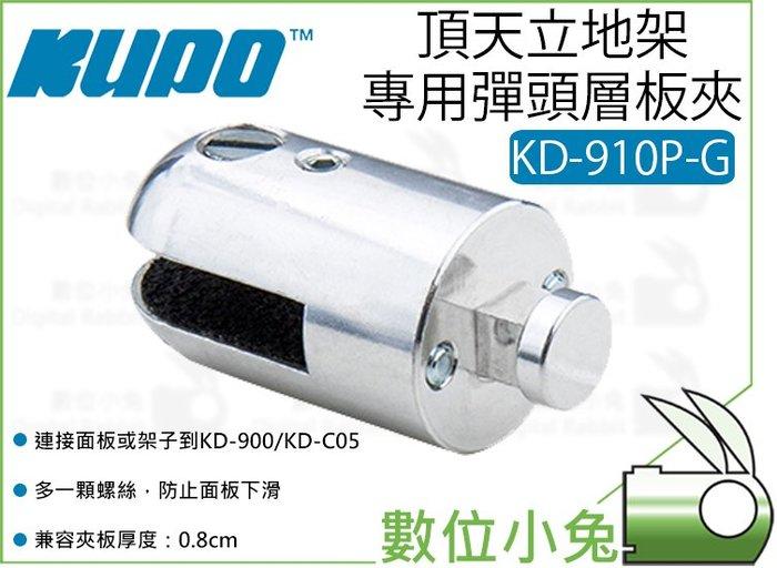 數位小兔【KUPO KD-910P-G 頂天立地架 專用 彈頭層板夾 時尚銀】8mm 垂直海報板 層板托架 隔板夾 夾具