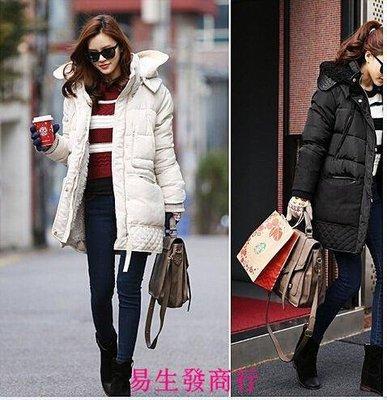 【易生發商行】冬季外套韓版女中長款羽絨...