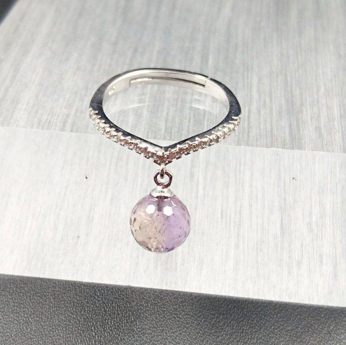 ~水晶花園~ 黃紫晶戒指