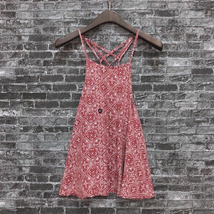 Maple麋鹿小舖 Hollister Co * HCO  紅色細肩帶印花圖樣上衣 * ( 現貨M號 )