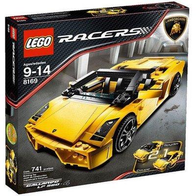 LEGO 正品樂高男孩玩具 賽車系列蘭博基尼跑車 絕版收藏積木 8169-月半灣百貨